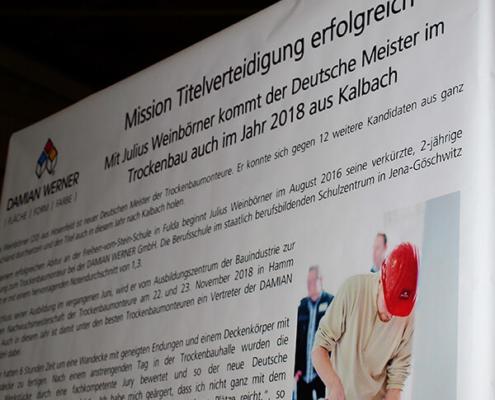 Damian Werner - Gewerke - Deutscher Meister Trockenbau